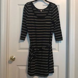 Banana Republic Black Striped Dress